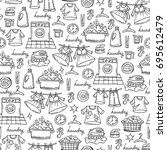 vector seamless pattern with... | Shutterstock .eps vector #695612479