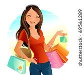 shopping day | Shutterstock .eps vector #69561289