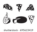 vector black cheeses icon on... | Shutterstock .eps vector #695615419