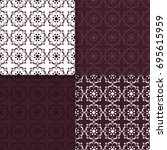 floral seamless patterns.... | Shutterstock .eps vector #695615959