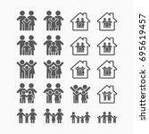 family icon | Shutterstock .eps vector #695619457