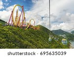 hong kong  china   july 24 ... | Shutterstock . vector #695635039