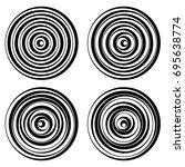 set of vector round elements... | Shutterstock .eps vector #695638774