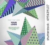 vector modern abstract card... | Shutterstock .eps vector #695639137