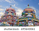 beautiful view of colorful... | Shutterstock . vector #695643061