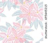 elegant seamless pattern with...   Shutterstock .eps vector #695645215