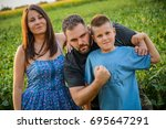 family concept image  small... | Shutterstock . vector #695647291