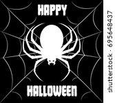 happy halloween background.... | Shutterstock .eps vector #695648437