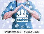 client satisfaction health care ... | Shutterstock . vector #695650531