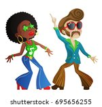 Two Cool Cartoon Disco Dancers...