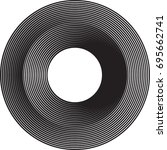 lines in circle form . vector... | Shutterstock .eps vector #695662741