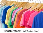 set of colorful shirt clothing... | Shutterstock . vector #695663767