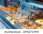 eat as much as you like chinese ... | Shutterstock . vector #695671594