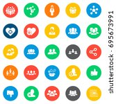 social network icons in... | Shutterstock .eps vector #695673991