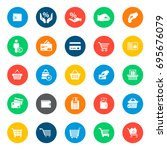 commerce icons in colorful... | Shutterstock .eps vector #695676079