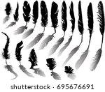 illustration with black... | Shutterstock .eps vector #695676691