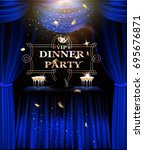 vip dinner party invitation... | Shutterstock .eps vector #695676871