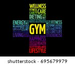 gym word cloud collage  health...   Shutterstock .eps vector #695679979