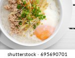 pork chops rice porridge or...