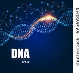 human dna molecule background.... | Shutterstock .eps vector #695693041