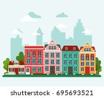 vector illustration of european ... | Shutterstock .eps vector #695693521