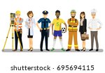 set of people of different... | Shutterstock .eps vector #695694115