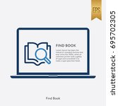 find book icon and laptop...   Shutterstock .eps vector #695702305