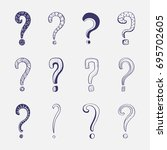 doodle collection of different... | Shutterstock .eps vector #695702605