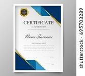 certificate premium template... | Shutterstock .eps vector #695703289