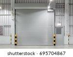 shutter door or roller door and ... | Shutterstock . vector #695704867