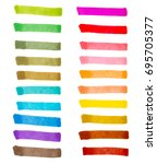 color stripes drawn with... | Shutterstock .eps vector #695705377