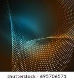 vector wave particles... | Shutterstock .eps vector #695706571