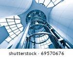futuristic elevator in the...   Shutterstock . vector #69570676