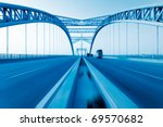 road through the bridge with... | Shutterstock . vector #69570682