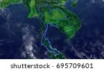 map of thailand elements of...   Shutterstock . vector #695709601