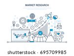 market research. analysis ... | Shutterstock .eps vector #695709985