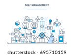self management concept.... | Shutterstock .eps vector #695710159