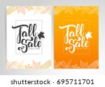 vector illustration  two... | Shutterstock .eps vector #695711701