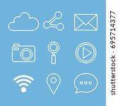 social media web applications... | Shutterstock .eps vector #695714377