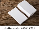 blank white business card... | Shutterstock . vector #695717995