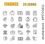 finance line web icon set | Shutterstock .eps vector #695721811