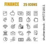 finance line web icon set | Shutterstock .eps vector #695721811