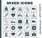 antibiotic icons set.... | Shutterstock .eps vector #695722075
