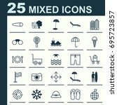 tourism icons set. collection...   Shutterstock .eps vector #695723857