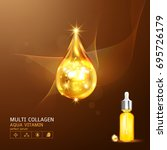 collagen serum and vitamin... | Shutterstock .eps vector #695726179