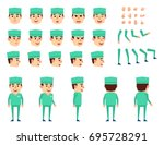 doctor in medical uniform... | Shutterstock .eps vector #695728291