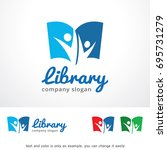 library logo template design... | Shutterstock .eps vector #695731279