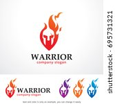 warrior logo template design... | Shutterstock .eps vector #695731321