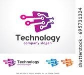 technology logo template design ... | Shutterstock .eps vector #695731324