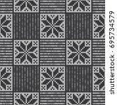 vector knitted seamless... | Shutterstock .eps vector #695734579